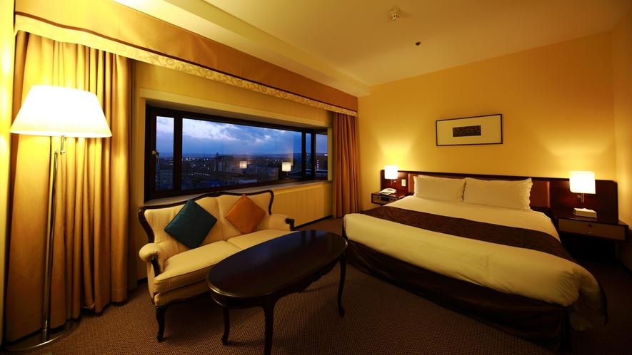 ラージダブルルーム(12階) 広さ:33平米 ベッド幅:200cm×180cm