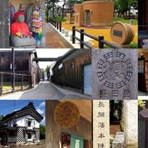 醤油や日本酒造りが盛んな醸造の街・摂田屋。吉乃川の試飲も可(平日ご予約制)(車で15分)