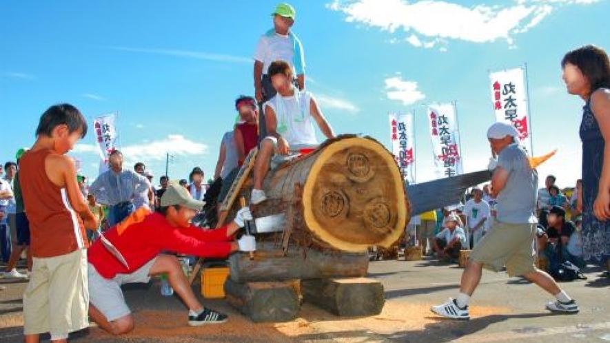 三島まつり 全日本丸太早切選手権大会