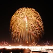 長岡花火の正三尺玉とナイアガラ 戦没者の慰霊と地域復興、世界平和を願って。(徒歩25分)