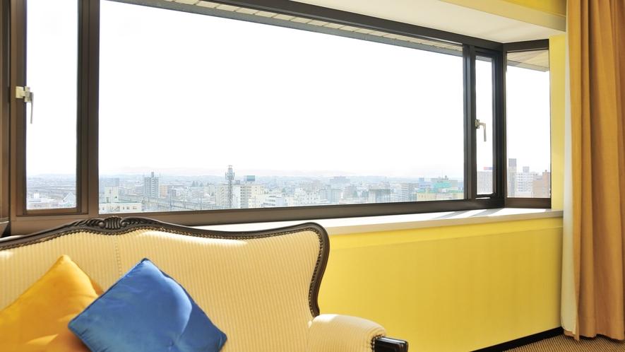 ラージダブルルーム(12階) 最上階からの眺望もお勧めです