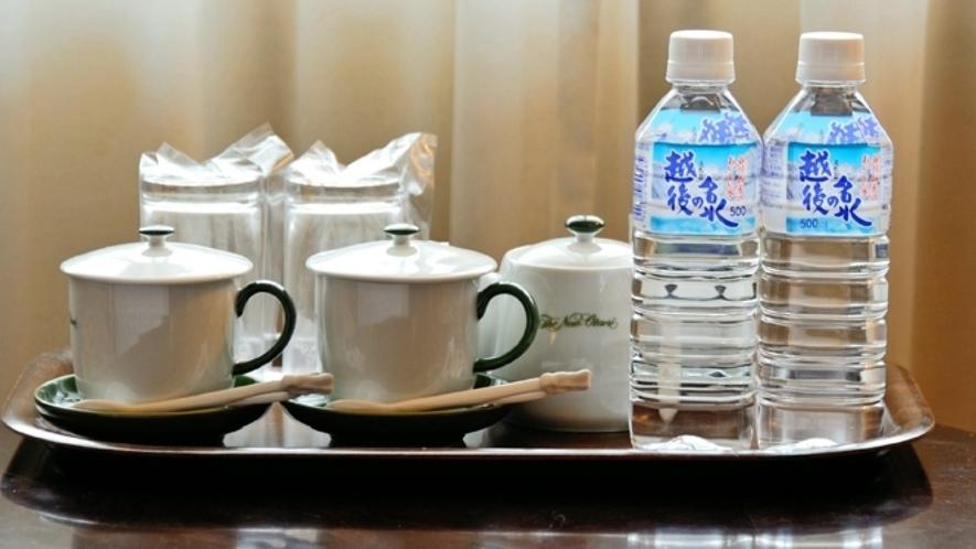 【スーペリアタイプ全室共通】カップをご用意しております(日本茶・梅茶・紅茶パック付)