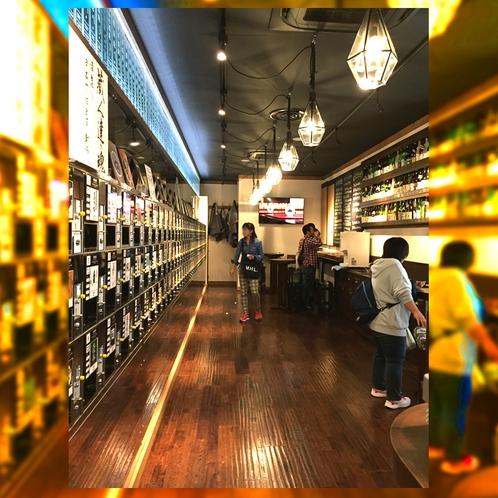 ぽんしゅ館 長岡駅2階の県内の銘品多く取り揃えたお店!利き酒コーナーは500円で利用可能。