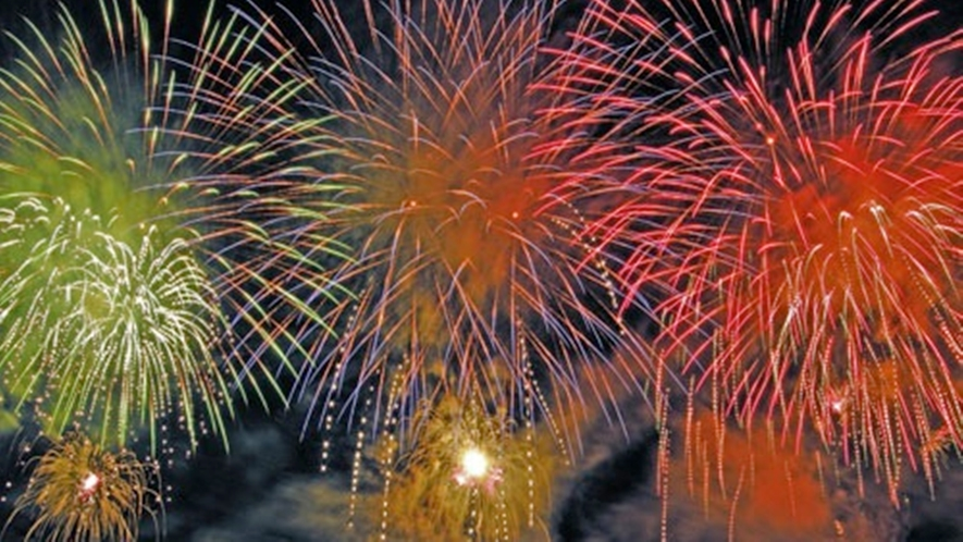 *【安曇野花火大会】市内の若手経営者たち主催!音楽花火、超巨大ワイドスターマインなど見ごたえ抜群。