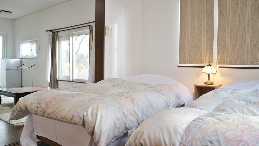 *[特別室]ふかふかの羽毛布団のある特別室のベッドルーム