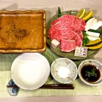 *[特別料理]プレミアム信州牛の陶板焼き1人前2,400円(要事前予約)
