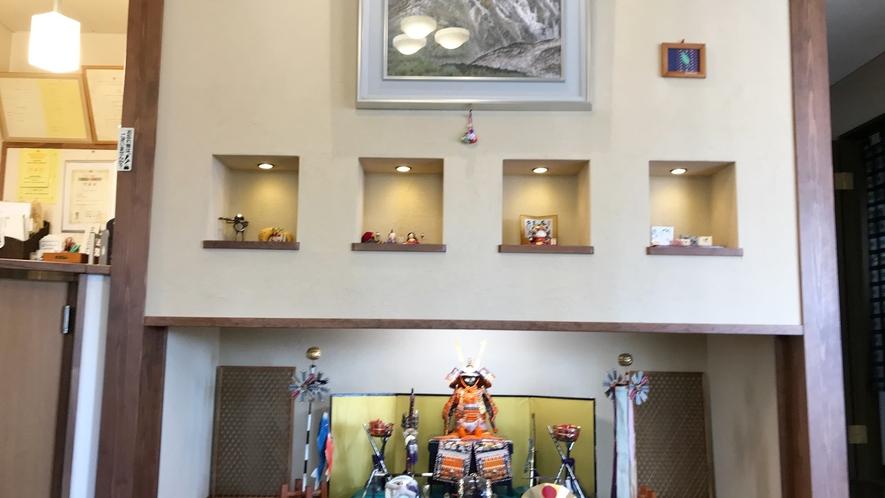 *【館内】GW期間は五月人形で皆様をお迎えします!