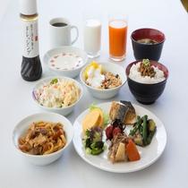 無料朝食「エコモニ」の和食メニュー例