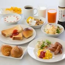 無料朝食「エコモニ」の洋食メニュー例