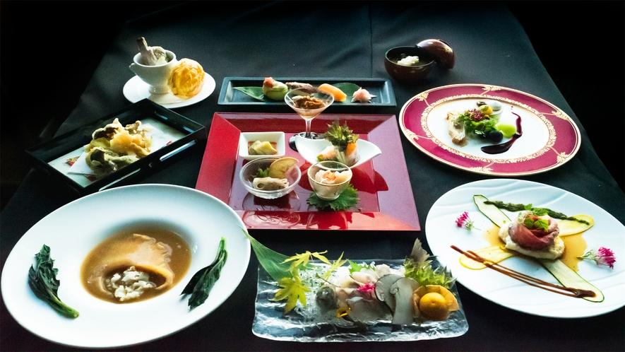 和洋折衷コース料理(イメージ)