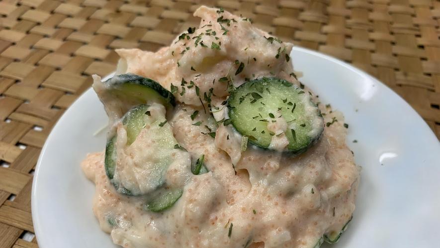 【夕食】豆乳明太ポテトサラダ
