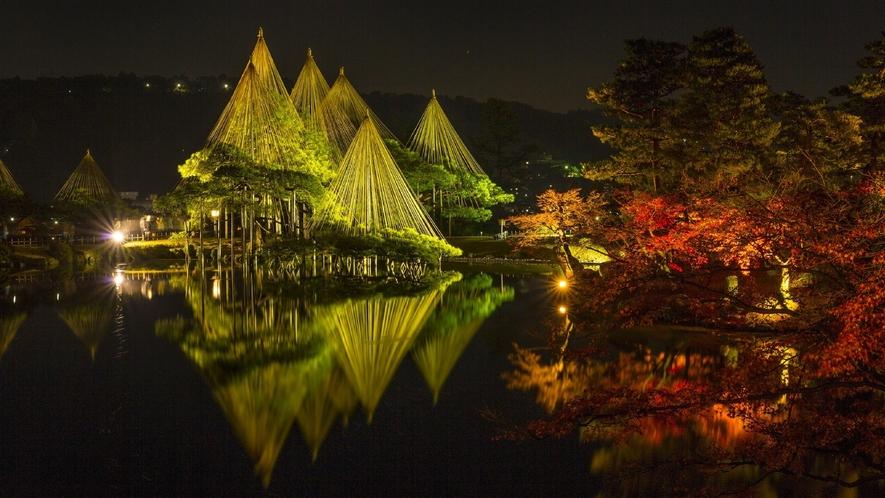 兼六園・冬(ライトアップの様子) (写真提供:金沢市)