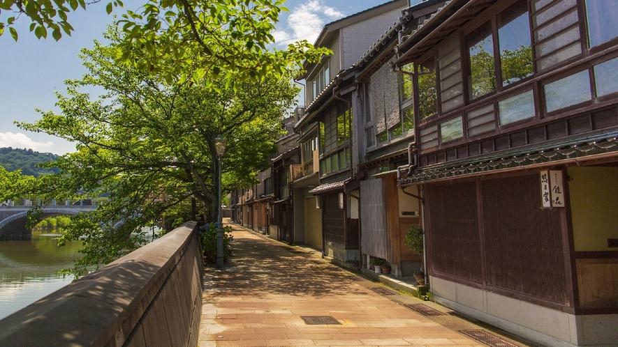 主計町茶屋街 (写真提供:金沢市)