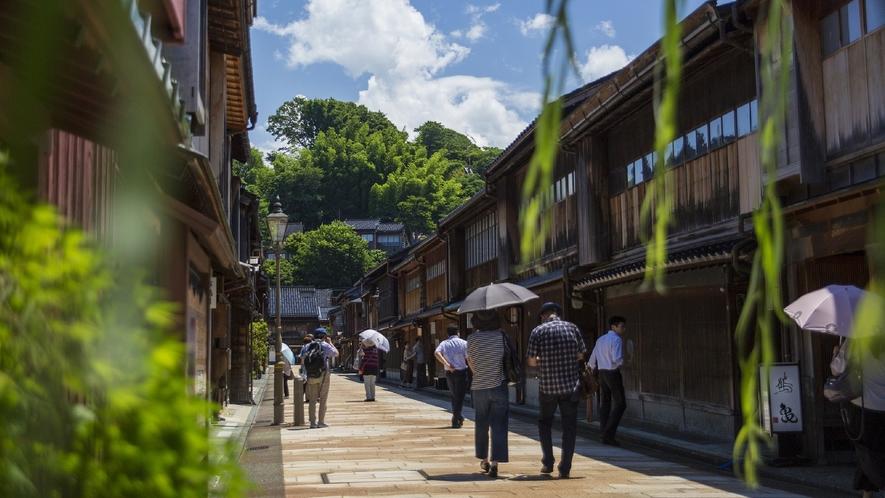 ひがし茶屋街 (写真提供:金沢市)
