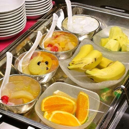 フルーツ&ヨーグルト※当面の間、定食形式で提供