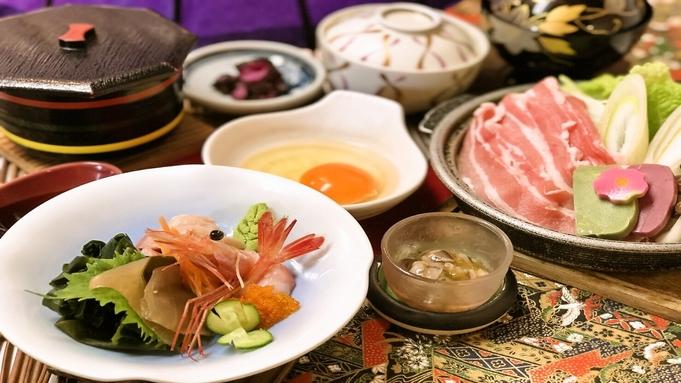 【2食付】すき焼き・海鮮が楽しめます♪&朝食バイキング付【銀ゆば極み御膳】