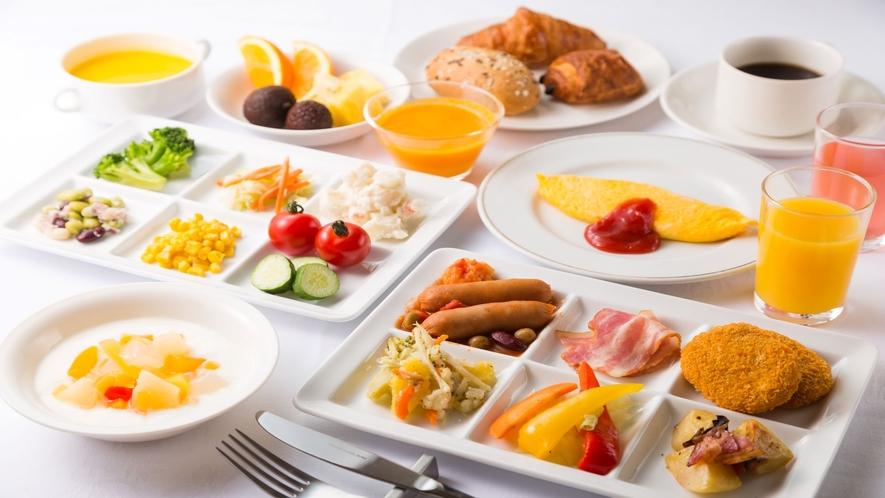 【朝食】洋食盛りつけ(一例)