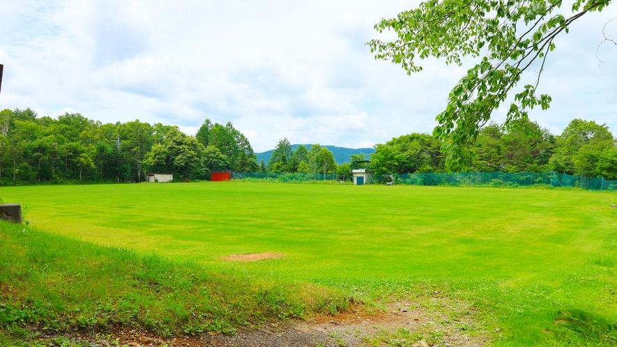 *グラウンド/各種スポーツに使用できる広々とした芝のグラウンド