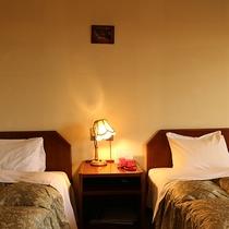 *ツインルーム一例/ゆっくりとくつろげる落ち着いた雰囲気