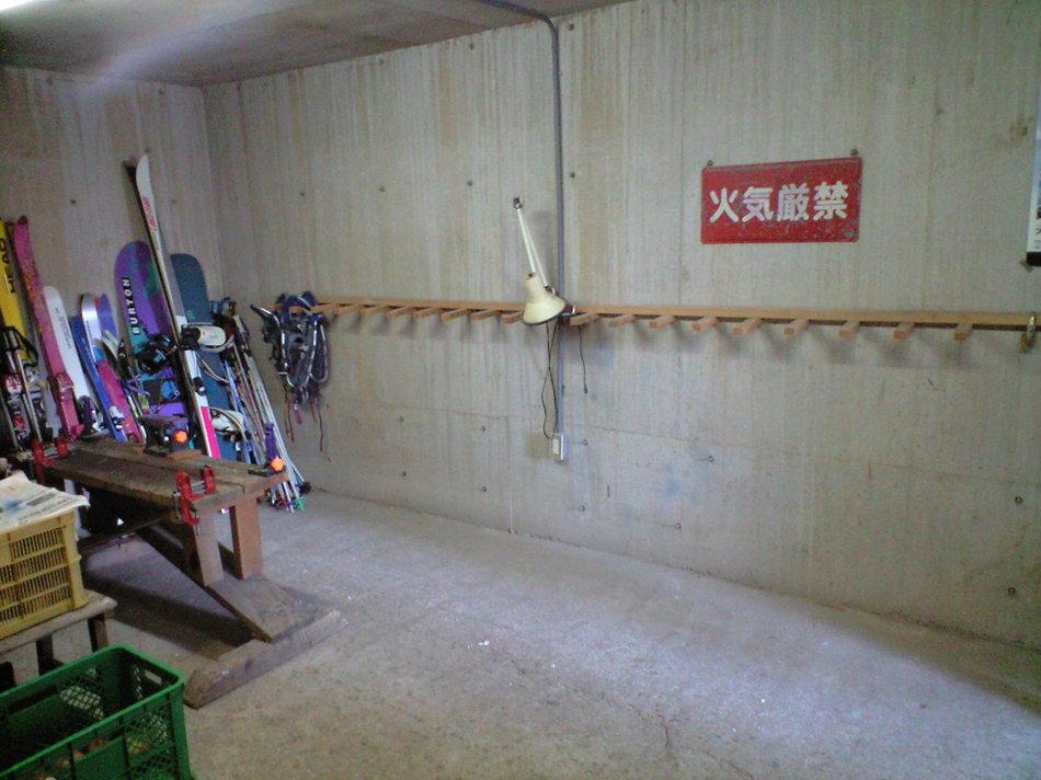 スキー、ボード乾燥室、チューンナップルーム