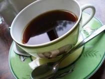 淹れたてのコーヒーをサービスでおだししてます
