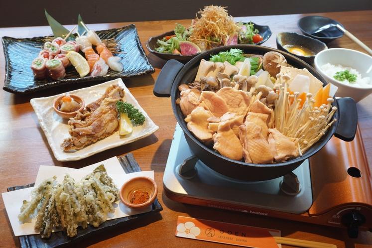 GOEN信州鍋料理一例