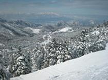 志賀高原の各スキー場からの眺めは雄大!