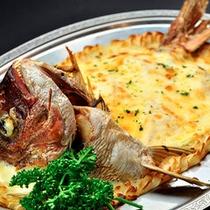 鯛のクリームグラタン