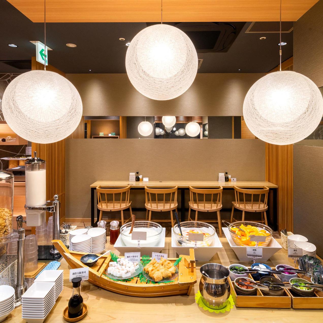レストラン内【朝食】和洋合わせて40品目を楽しんでいただけます♪