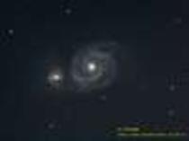 りょうけん座の渦巻銀河 M51 子持ち銀河 (オーナー撮影)