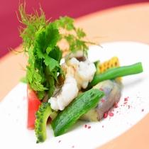 夏の特別グルメディナー一例≪淡路産 鱧サラダ≫