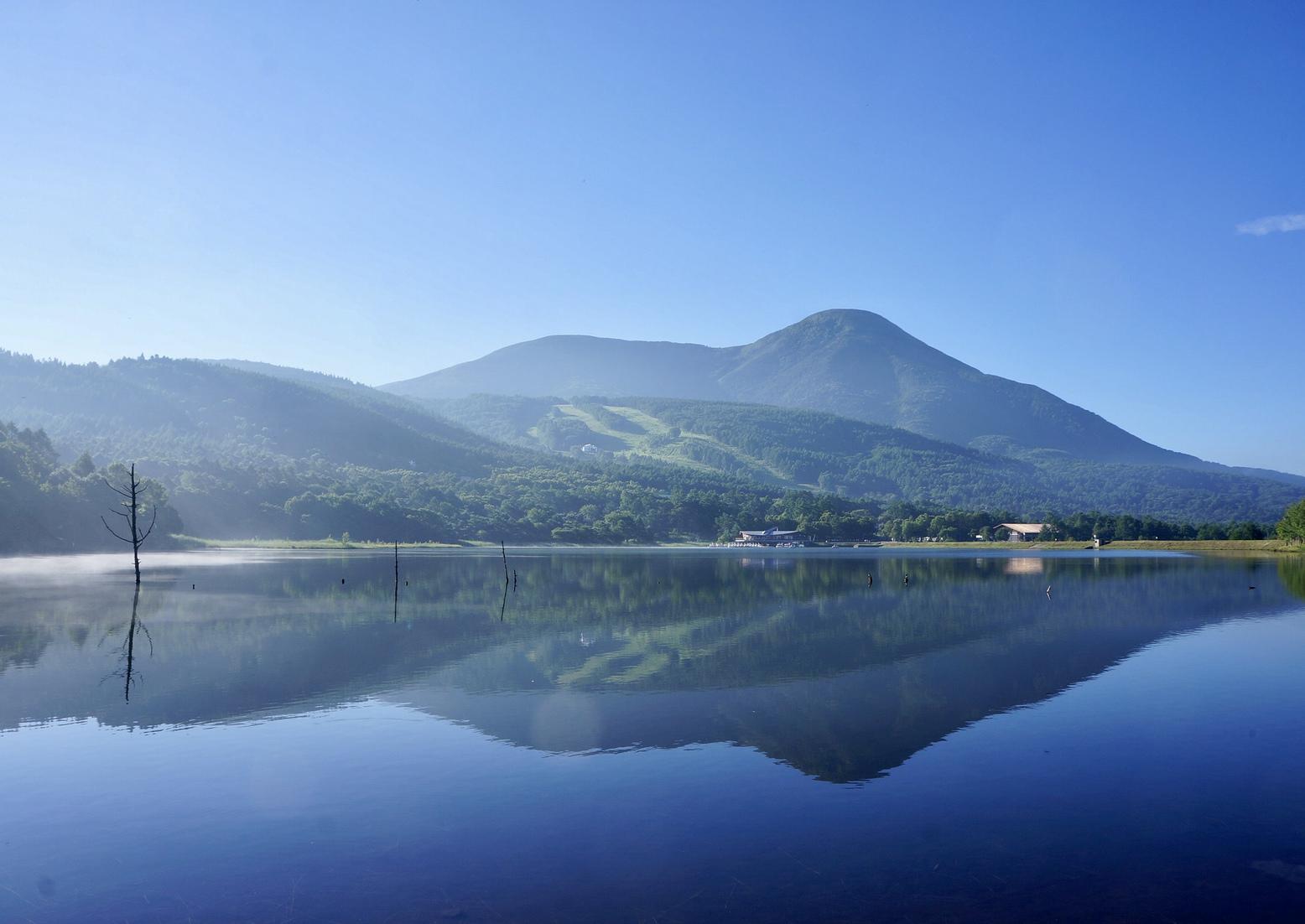 春夏 女神湖と蓼科山