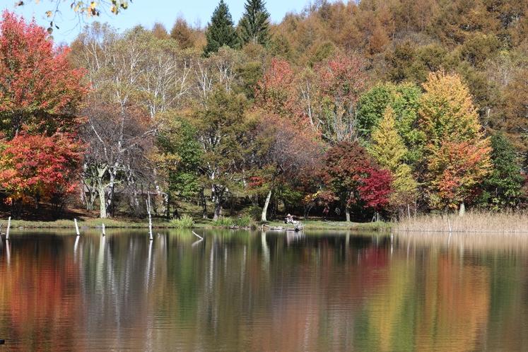 10月中旬 女神湖湖畔