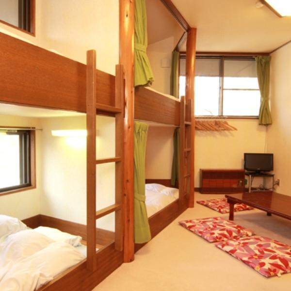 2段ベッドのスキーヤーズルーム。