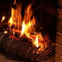 館内 暖炉