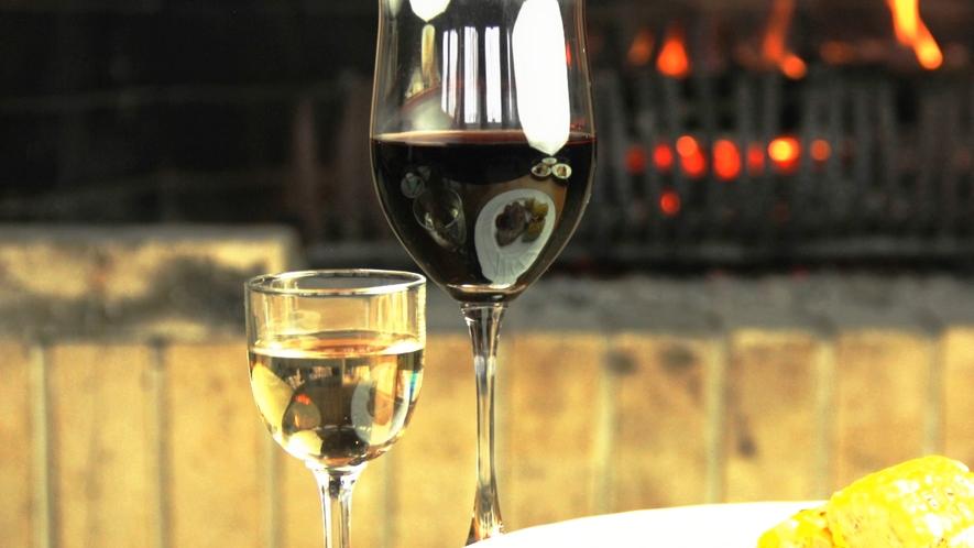 ワインと料理_