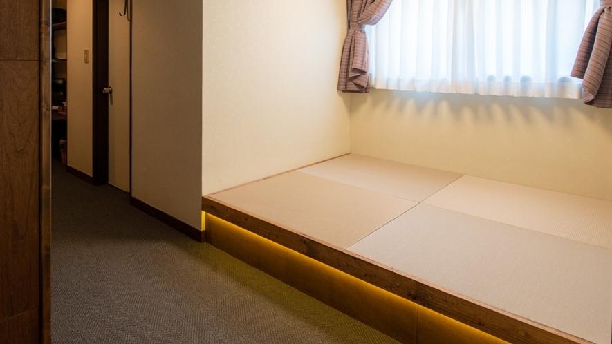 【201】コンパクトスイート 新設の畳スペースでさらにゆったりとお寛ぎいただけます