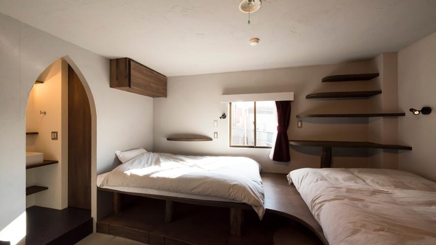 デザイナーズルーム【Valley】 部屋全体が自然な曲線で造られたワクワクするような空間です。