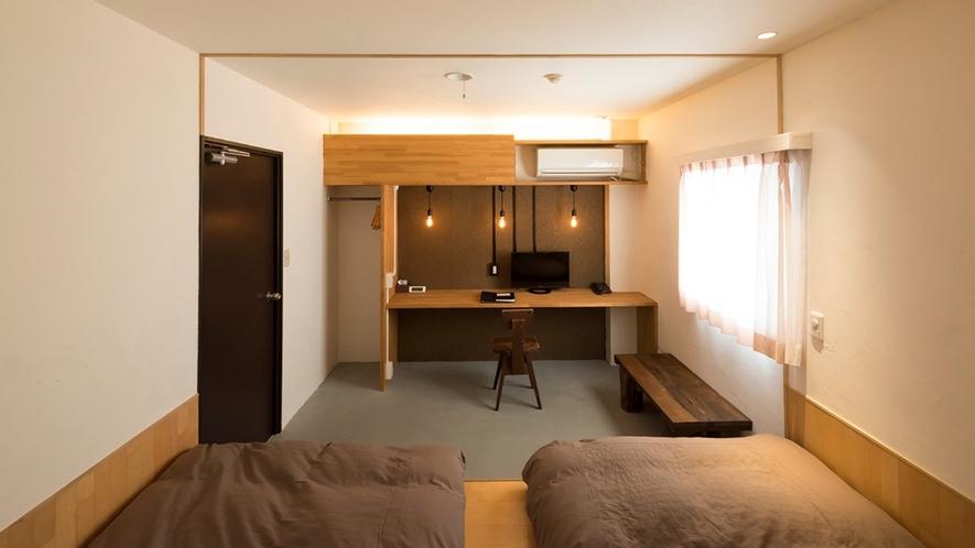 デザイナーズルーム【Bahn】『斜面』がコンセプトの上品でモダンなお部屋です。