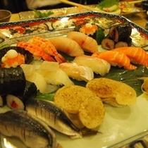 2階和食処「あくら」にて 握り寿司