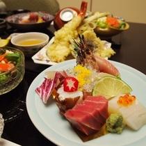2階和食処「あくら」瀬戸内のお造りや天ぷら