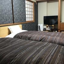 ◇禁煙和室ツインルーム◇25平米(7.5畳)・ベッド幅110cm