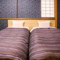 ◇禁煙和モダンツインルーム◇25平米(7.5畳)・ベッド幅110cm