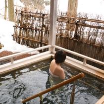 【貸切風呂】山の湯/深湯露天(冬)