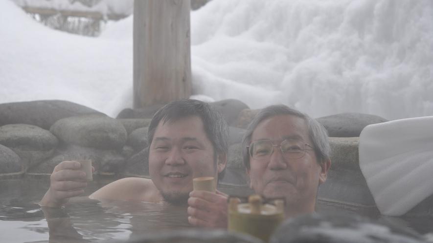 雪見露天で一杯いかが?