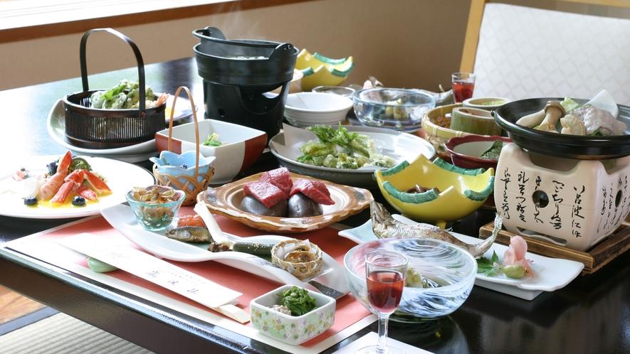 【お料理一例】天然湧水で調理された、心がほっとするお料理。(一例)