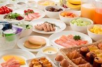 朝食ブッフェの料理