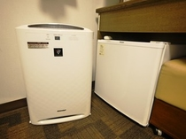 空の冷蔵庫があるので、長期滞在にも便利です。