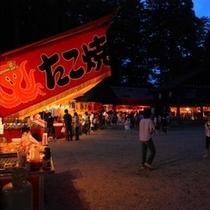【かまど神社例大祭】夏祭りは露店も多くあり、賑やかです♪