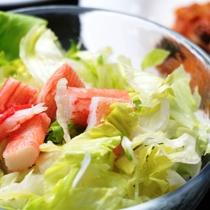 洋夕食 サラダ